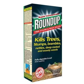 Scotts Roundup Tree Stump & Root Killer. Kills trees, tree stumps, brambles, nettles, deep rooted and woody weeds.
