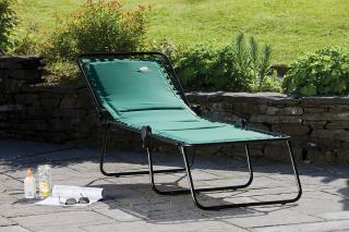Suncoast Padded Sun Lounger Green