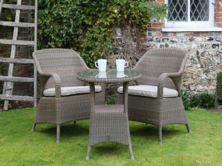 4 Seasons Outdoor Sussex Dining Tea For Two Set - Woven Garden Furniture