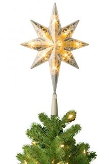 """This 11"""" LED star will fit pre-lit National Tree Christmas trees which have the additional upper connector."""