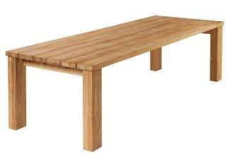 Barlow Tyrie Code 2TI30. The Rustic Titan 300cm Teak Table will accommodate eight to ten people.