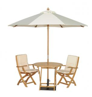 The elegant Snowshill 90cm Teak Set for Two is perfect for smaller gardens or patio areas. Just simply fold away for store after use.