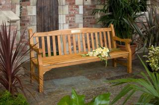 This Solid 6ft Teak Memorial Bench has been manufactured from High Grade Teak and will last a lifetime outdoors in a garden or park.