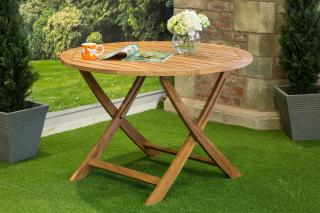 Kingston FSC Teak 4 Seat Round Table 110cm