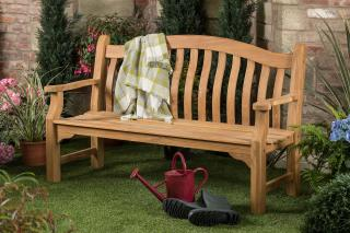 6ft Solid Teak Tenbury Bench - FSC Hardwood Bench