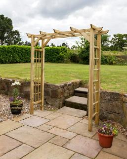 It's never been easier to inject some colour into your garden. This generous garden arch allows you to produce large and wonderful climbing plants but also has hooks to utilise your hanging baskets.