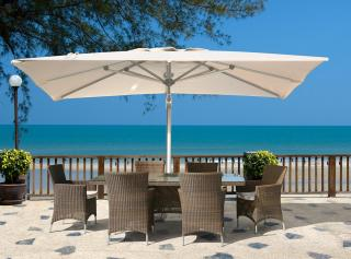 Westminster Valencia 6 Seat Rectangular Set in Sand  (parasol not included)