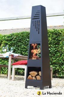 The Vela Chimenea will complement any garden or terrace. La Hacienda 56192.