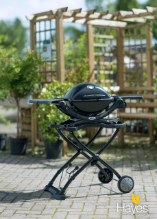 This bbq has the same grill area as the Q1000 but comes with a rolling cart & side tables amongst other features.