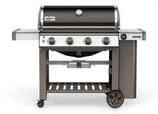 A 4 burner BBQ from Weber combining the new GS4 grilling system with the versatility of a Gourmet BBQ system grate.