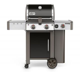 A 2 burner BBQ with side burner suitable for small spaces with the new GS4 grilling system & Gourmet BBQ system grate.