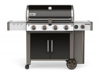 A 4 burner BBQ with side burner for feeding up to 16 with the new GS4 grilling system & Gourmet BBQ system grate.