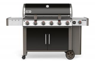 A 6 burner BBQ with side burner for feeding up to 18 with the new GS4 grilling system & Gourmet BBQ system grate.