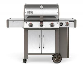A stylish 3 burner BBQ with side burner with the new GS4 grilling system & Gourmet BBQ system grate.
