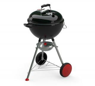This charcoal barbecue includes the Gourmet BBQ system cooking grate that fits most of the GBS inserts.