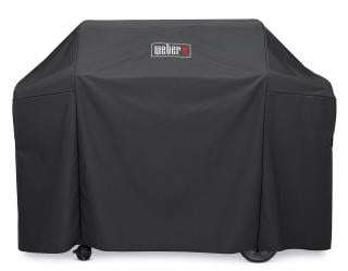 Full-length heavy-duty polyester cover to protect your Genesis II 3 Burner or Genesis 300 Series gas barbecue.