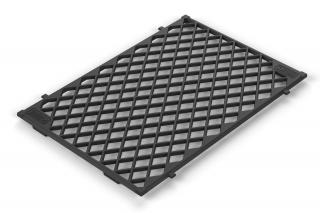 This cast iron sear grate is large enough to grill multiple steaks & roasts simultaneously.