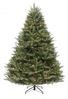 This large 8ft Pre-lit spruce is a PE/PVC mix tree that will stand out from the crowd.