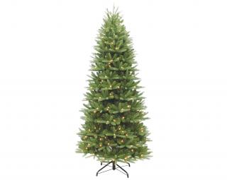 7.5ft Pre-lit Washington Valley Spruce Slim Life Like Artificial Christmas Tree
