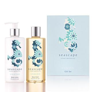 This gift set includes a body wash & a body lotion to unwind after a hard day.